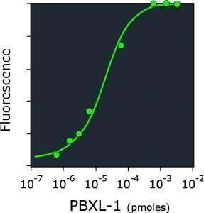 Fluorescence graph of PBXL